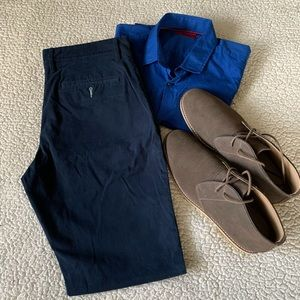 Goodfellow & Co Navy Hennepin Athletic Fit Chinos